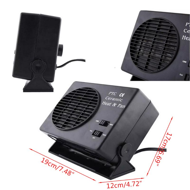 Image 5 - Mini Air Conditioner For Car 12V Car Portable 2 in 1 Electric Fan and Heater 300W Defroster Demister Quick Heating Speed-in Heating & Fans from Automobiles & Motorcycles