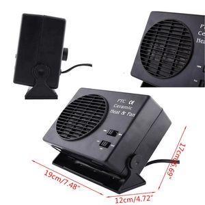 Image 5 - Mini condicionador de ar para carro 12 v carro portátil 2 em 1 ventilador elétrico e aquecedor 300 w descongelador demister velocidade aquecimento rápido
