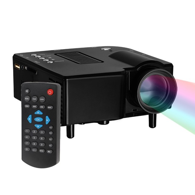 Chegam novas UNIC UC28 + Portátil Mini Projetor Multimídia Cinema Teatro UC-28 LED Projector Digital VGA/USB/SD/AV/HDMI Projetor