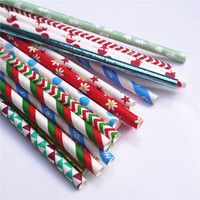 wholesale 10000pcs 233designs 10000 400pack Eco friendly straws paper straw wedding banquet straw color party Drinking straws