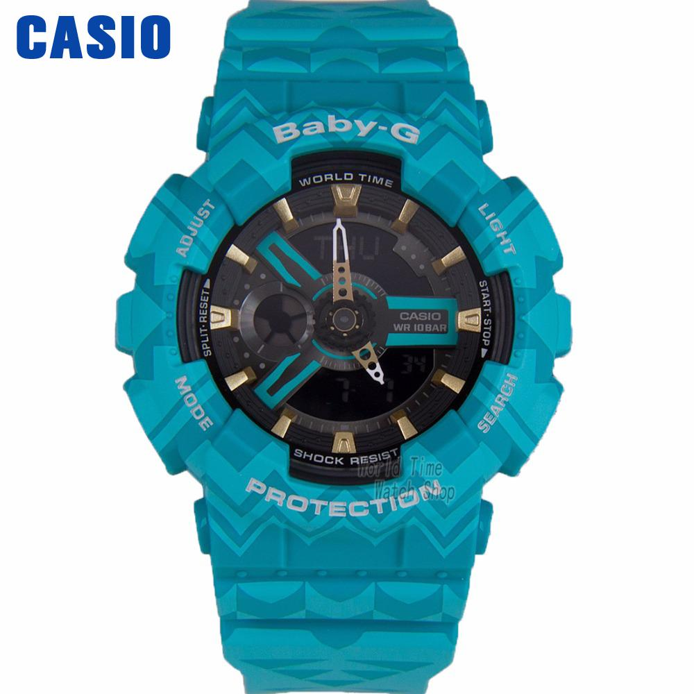 цена Casio watch shockproof waterproof fashion sports electronic watch BA-110TP-2A BA-110TP-8A BA-110TR-7A онлайн в 2017 году