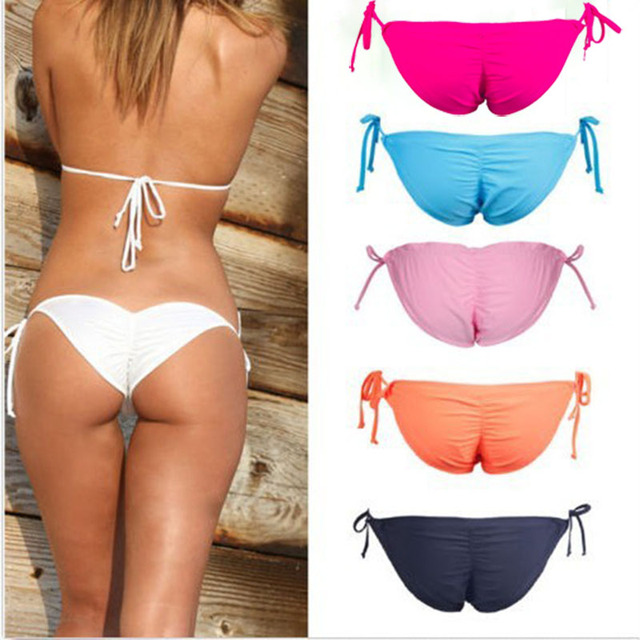 c728ef6c1c2 Brazilian Bikini Bottoms Tanga 2015 New Summer Style Womens Lady Sexy Beach  Swim Suit Thong Swimsuit Bikini Bottom Plus Size