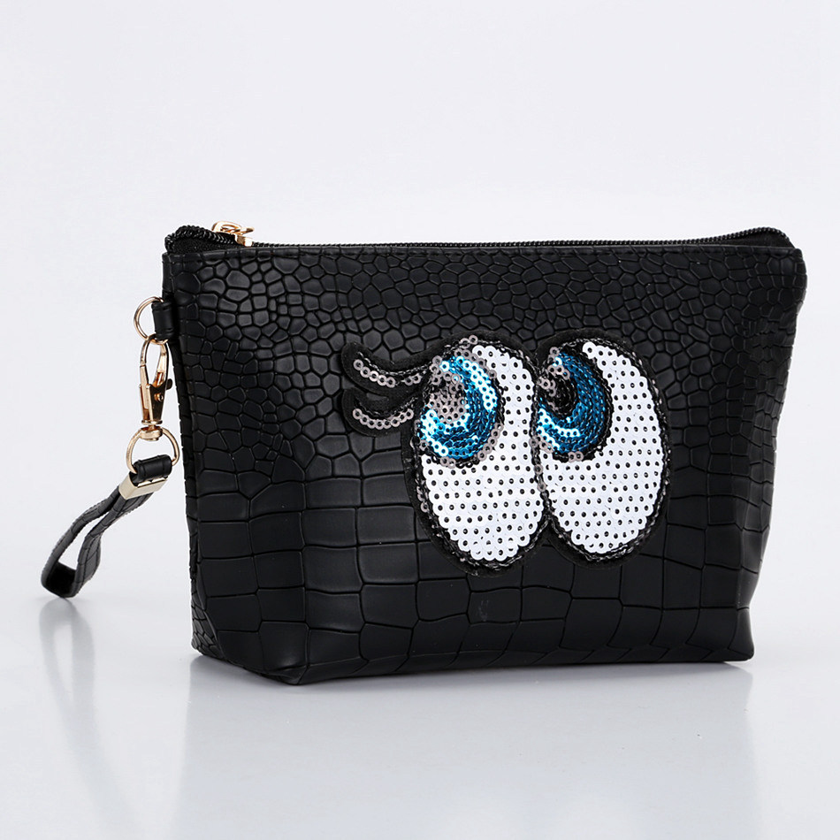 Women Travel Cosmetic Bag Cartoon Eye Makeup Case Function Zipper Make Up Handbag Organizer Storage Pouch Toiletry Wash Kit Bag new women fashion pu leather cosmetic bag high quality makeup box ladies toiletry bag lovely handbag pouch suitcase storage bag