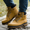 2016 Warm Winter Men Boots PU Leather Lace-up Male Martin Boots Fashion Comfortable Men Climbing Boots