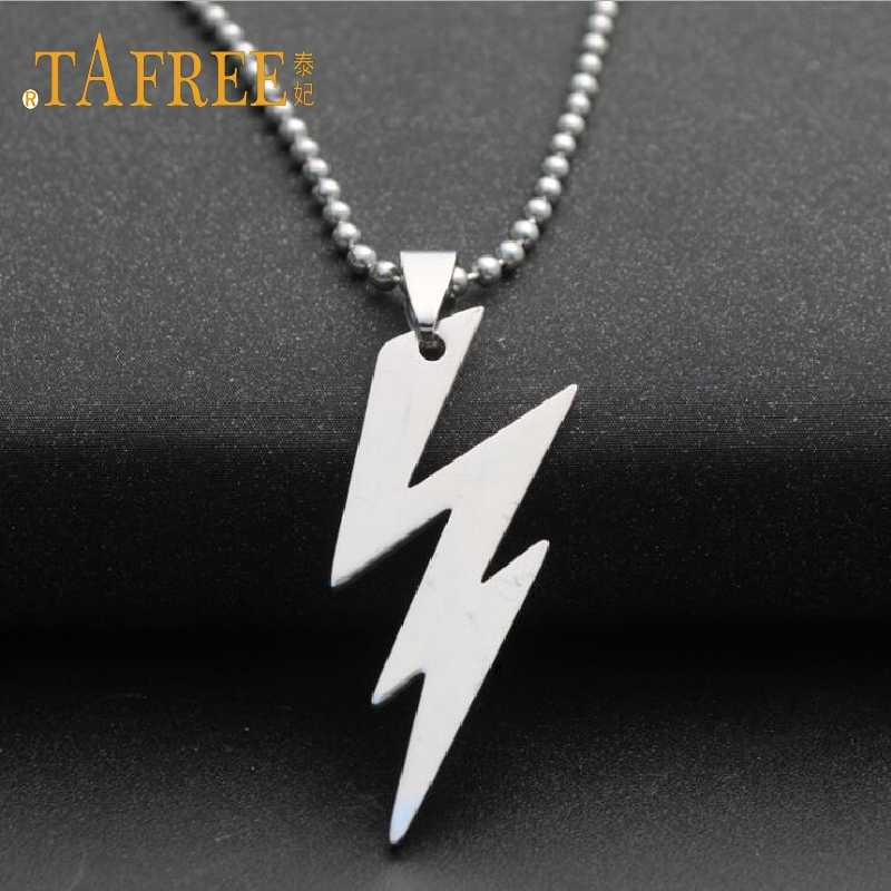 TAFREE Silver Color Cool Boy  Pendants Stainless Steel Bead Chain Necklace Charm Women Simple Jewelry SQ016