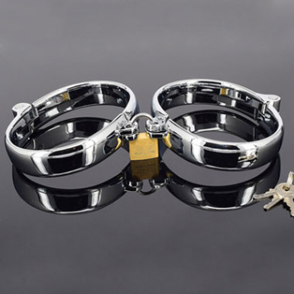 Stainless steel Handcuff Ankle Cuff Restraints Bondage Sex games Locks keyed padlocksStainless steel Handcuff Ankle Cuff Restraints Bondage Sex games Locks keyed padlocks
