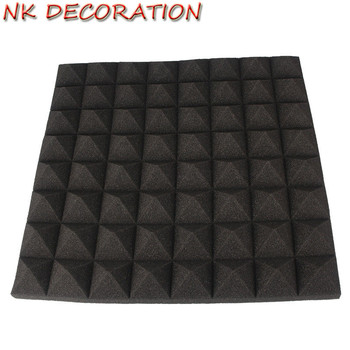 Soundproof Insulation For Walls | NK DECORATION 16pcs/Set Black+Red Acoustic Panels Soundproofing Studio Foam Treatment Sound Proofing Sound Insulation Decoration