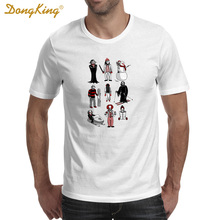 DongKing Fashion HORROR LIVES WINTER Printed T Shirt Men's Funny Humor T-Shirt Summer Casual Fitness Clothing Tops Tee