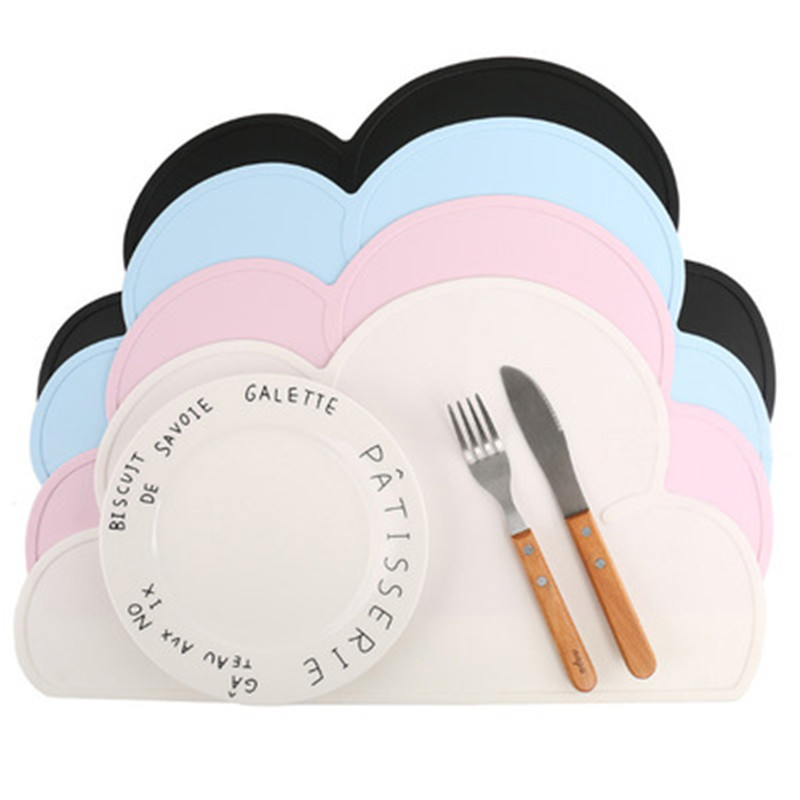 Baby Creative Tableware Sucker Toddlers Double-Sided Bowl Plate Cutlery Stationary Pad for Infant Kids Children Feeding Anti-Slip Placemat Orange