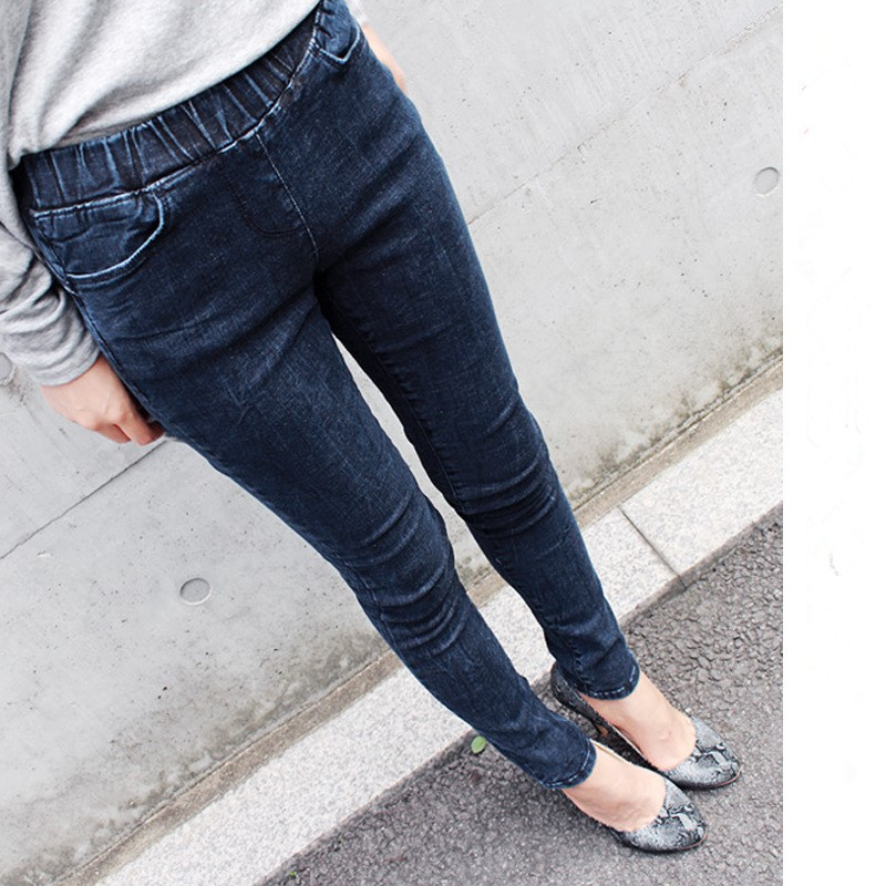 Woman Denim Pencil Pants Top Brand Stretch Jeans Elastic High Waist Women Plus Size 5xl