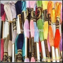 8m pcs 6 Strands Embroidery Floss Yarn Thread Cross Stitch Floss Yarn Thread Fast Shipping tanie tanio 100 Polyester Folded Traditional Chinese PAPER BAG Embroidery package
