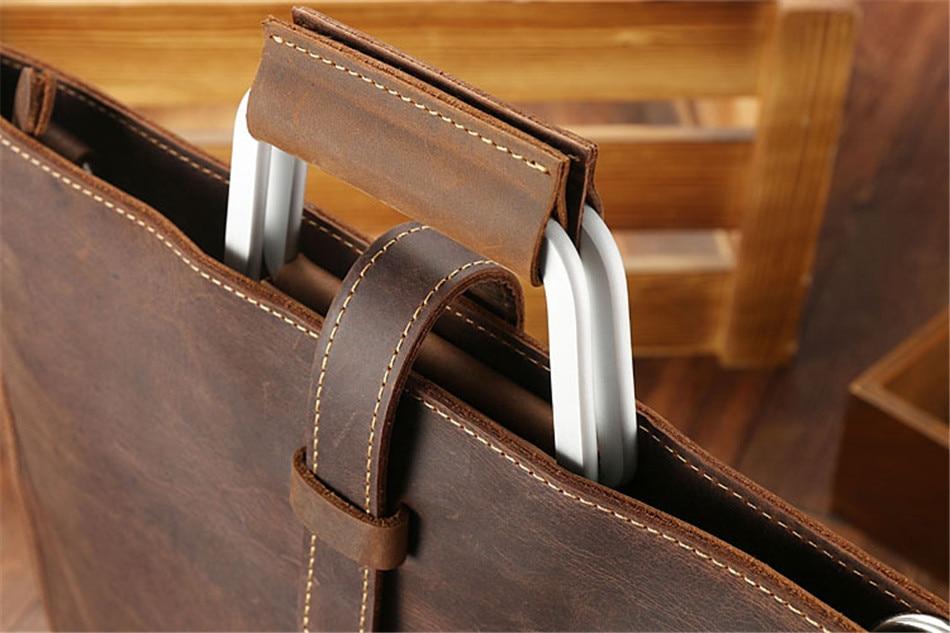 HTB1VdNUk41YBuNjy1zcq6zNcXXa6 Joyir 2019 Crazy horse leather briefcase for man coffee color vintage men genuine leather messenger bag business bags male