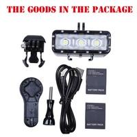 Go Pro Diving flash Light lamp Waterproof LED Flash Video Light For GoPro Hero 4/3+,SJCAM SJ4000 6000 SJ7000/Xiaomi Yi