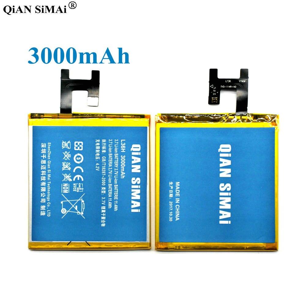 QiAN SiMAi High Quality lis1502erpc 3000mAh Battery For Sony Xperia Z L36h L36i c6602 C6603 S39H+ Tracking Code