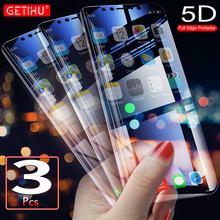 GETIHU Screen Protector Full Flim Glass on For iPhone X Xs MAX XR 8 7 6s 6 S Plus Screen Protect Glass Flim Not Tempered Glass