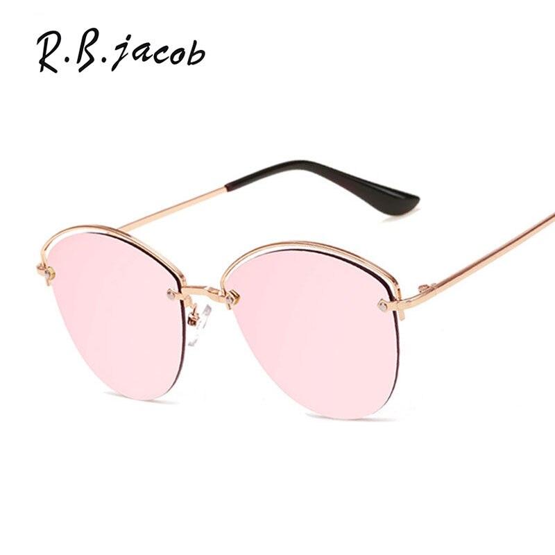 Fashion Sunglasses Women Mirror 2017 New Brand Designer Lady Female Flat lENS Sun glasses UV400 Female Metal High Quality