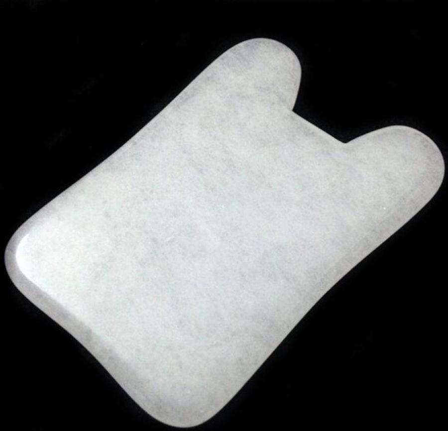FREE SHIPPING Health care SLIDE GUA SHA BOARD made of China White quanxi Jade guasha pad massage tool 250g premium liu an gua pian melon seed tea a3clg03 free shipping