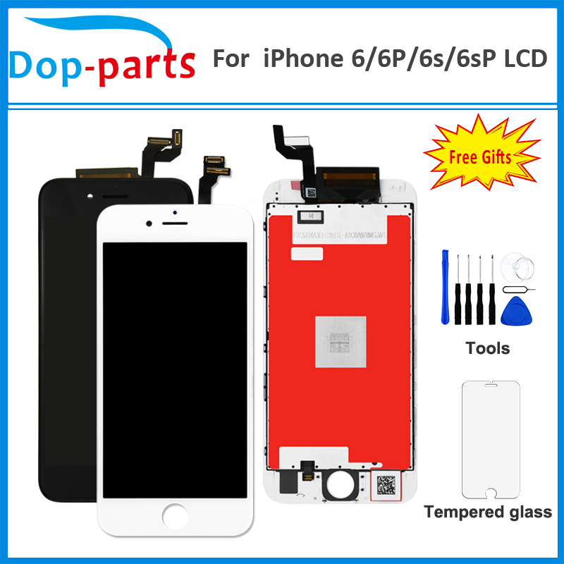 LCD For IPhone 6 / 6S / 6S PLUS LCD OEM Display Digitizer No Dead Pixel Complete Touch Screen Assembly + Tempered Glass + Tool