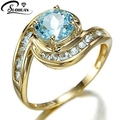 Fashion Fine Jewelry Engagement rings IP Gold plating Wedding Ring Gift for women