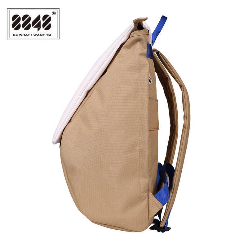 8848 mochilas de estilo Preppy para hombres, para la escuela bolso impermeable, bolsas para portátiles de gran capacidad, Mochila para hombres, nueva Mochila con tapa, Mochila 126-048-003