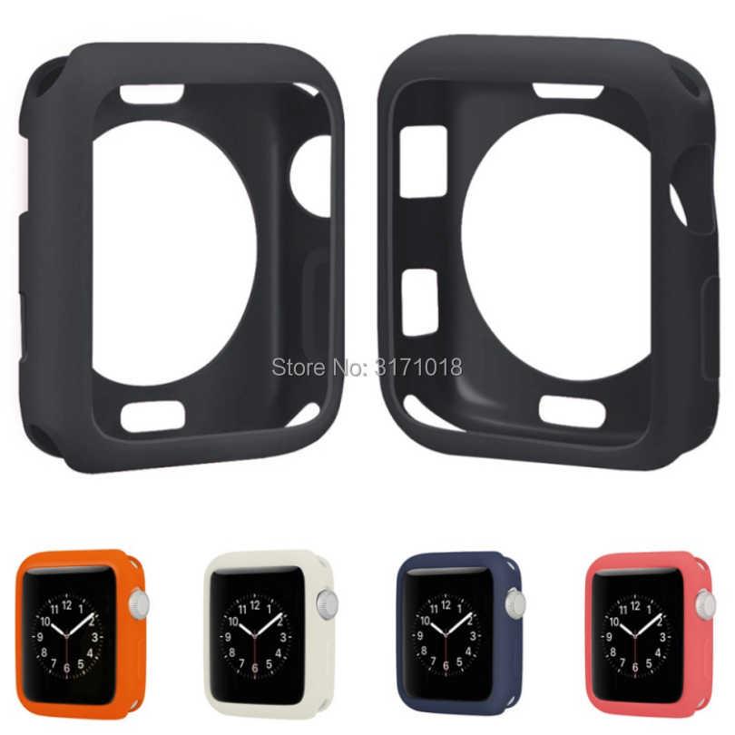 Модные, мягкие, силиконовые защитные чехлы для Apple Watch Series 1 2 3 42 мм 38 мм чехол из термополиуретана идеально подходит для бампера 38 42 мм