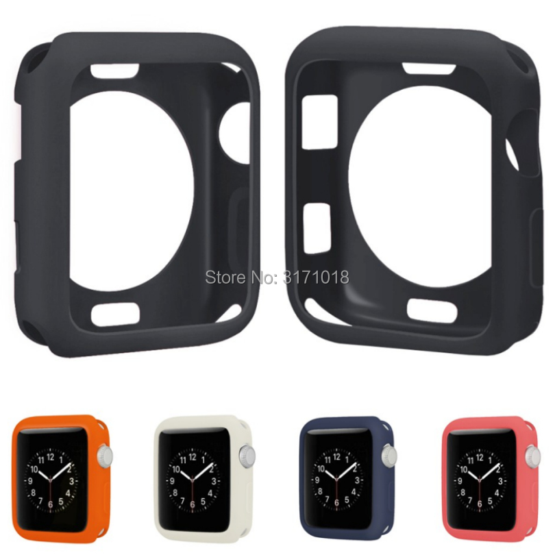Fashion Soft Silicone Frame Protective Case For Apple Watch Series 1 2 3 42mm 38mm TPU Cover Shell Perfect Match 38 42 mm Bumper protective tpu pc bumper frame for lg g3 mini blue black