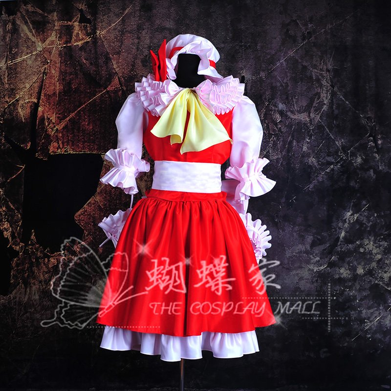 Anime Touhou Project flandre scarlet Cosplay Costume