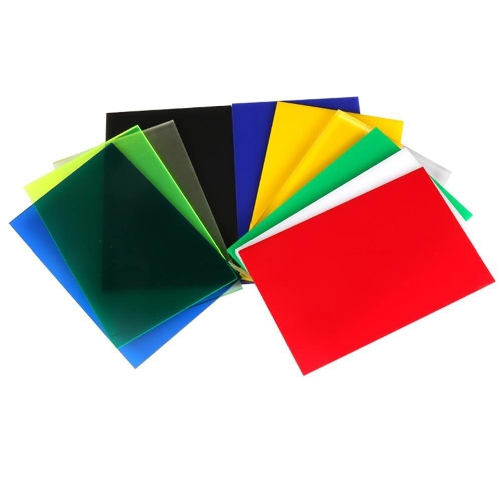 Acrylic Board Glossy Multicolor Translucent Plexiglass Plastic Sheet Organic Glass Polymethyl Methacrylate 300x200x2.7mm