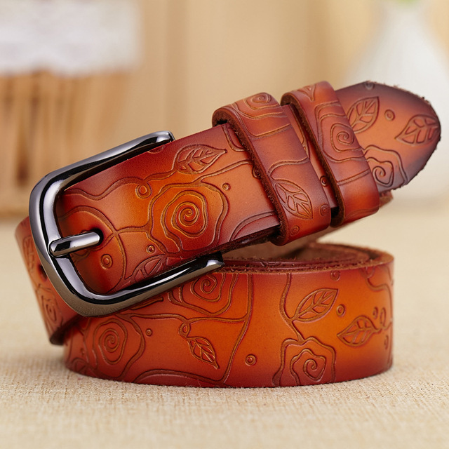 [HIMUNU] 2015 100% Genuine Leather belts for women belt brand ceinture homme fashion Metal buckle women belt leather cintos