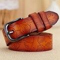 [HIMUNU] 2015 100% cinturones de Cuero Genuino para las mujeres correa de la marca ceinture homme cintos de cuero hebilla de Metal de moda correa de las mujeres