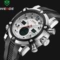 2016 de Lujo Superior de la Marca de Los Hombres Del Ejército Militar Reloj de Los Hombres de Cuero Reloj de Cuarzo LED Digital Led Reloj de Los Hombres Relojes Deportivos relojes
