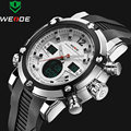 2016 de Luxo Da Marca Top Homens de Couro Militar Do Exército Relógio de Quartzo dos homens LED Relógio Digital Led Relógio de Pulso Dos Homens Relógios Desportivos relojes