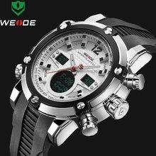 2017 Marque De Luxe Top Hommes Armée Militaire Montre Hommes de Quartz LED Numérique En Cuir Led Montre-Bracelet Hommes Sport Montres relojes