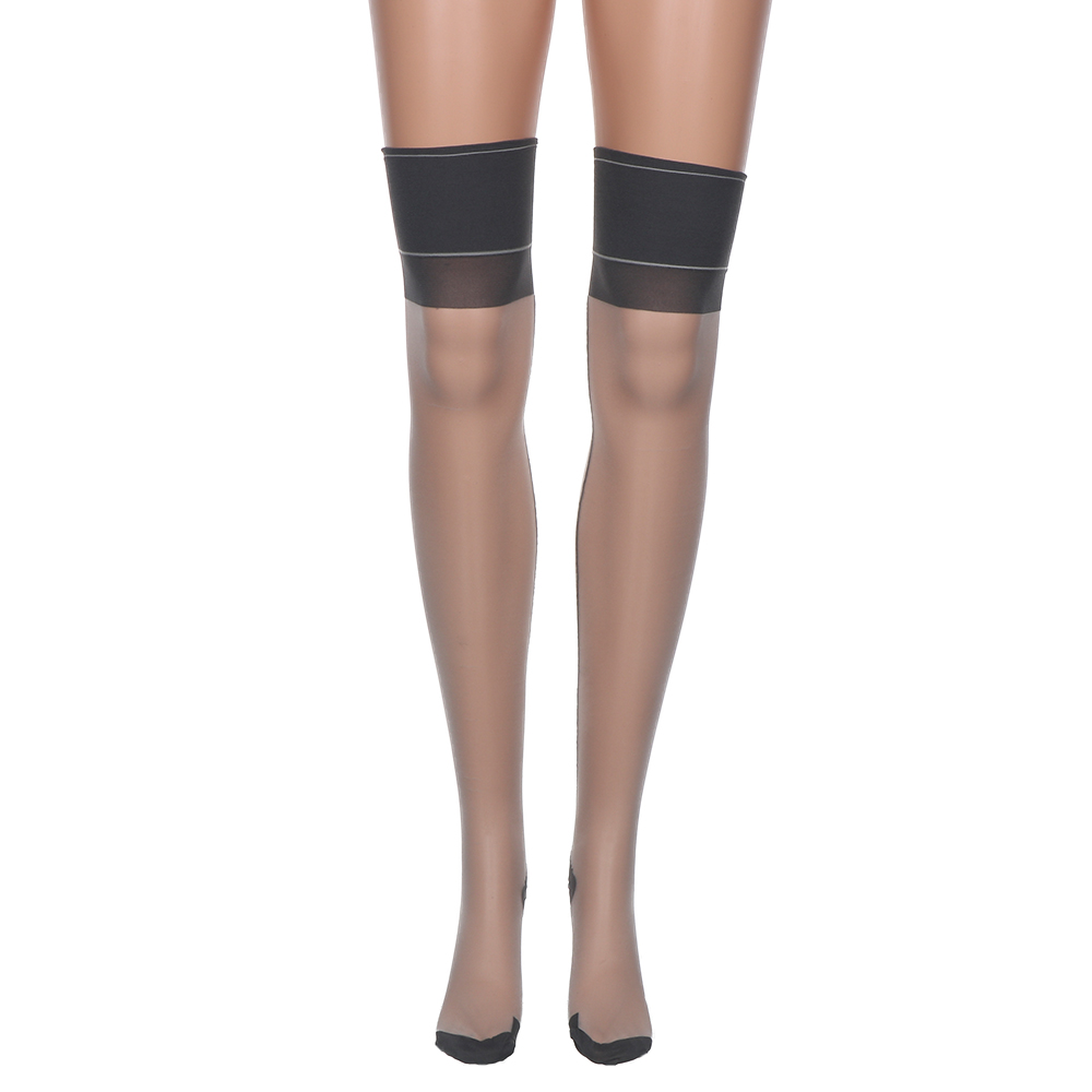 Women Sexy Thigh High Stockings Summer Transparent Ultrathin Sheer Over Knee Hosiery Sexy Stay up Stockings Pantyhose