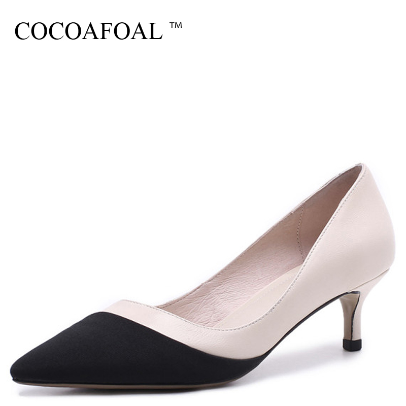 COCOAFOAL Genuine Leather Womens Wedding Pumps Woman High Heels Shoes Fashion Pointed Toe Sexy Shallow Apricot Sheepskin PumpsCOCOAFOAL Genuine Leather Womens Wedding Pumps Woman High Heels Shoes Fashion Pointed Toe Sexy Shallow Apricot Sheepskin Pumps