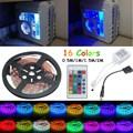 0.5 M/1 M/1.5 M/2 M RGB 5050 SMD Brillante Estupendo 16 Colores LLEVÓ la Tira ordenador PC Chasis Luces Con 24 Teclas de Control Remoto 12 V