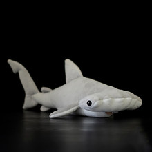 40CM Length Real Life Hammerhead Shark Stuffed Toys Cute Smooth Hammerhead Plush Toy Birthday Gift For Children(China)