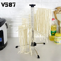 Stainless Steel Drying Rack Pasta Tools Spaghetti Noodle Stand Holder Collapsible Kitchen Accessories Pasta Supplies