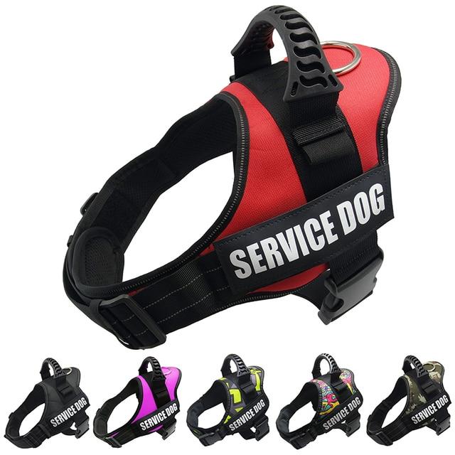 Dog Reflective Adjustable Harnesses Collar Dog Harness Vest