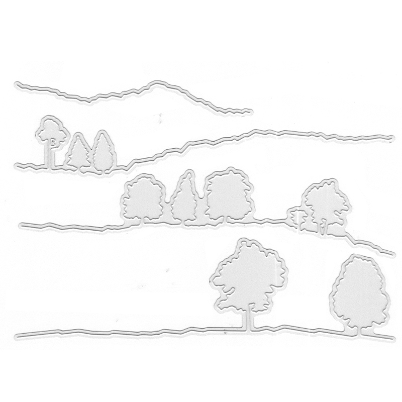 Forests DIY Cutting Die Craft Scrapbooking Embossing Stencil Template Decoration Handmade Paper Card Album Making in Cutting Dies from Home Garden