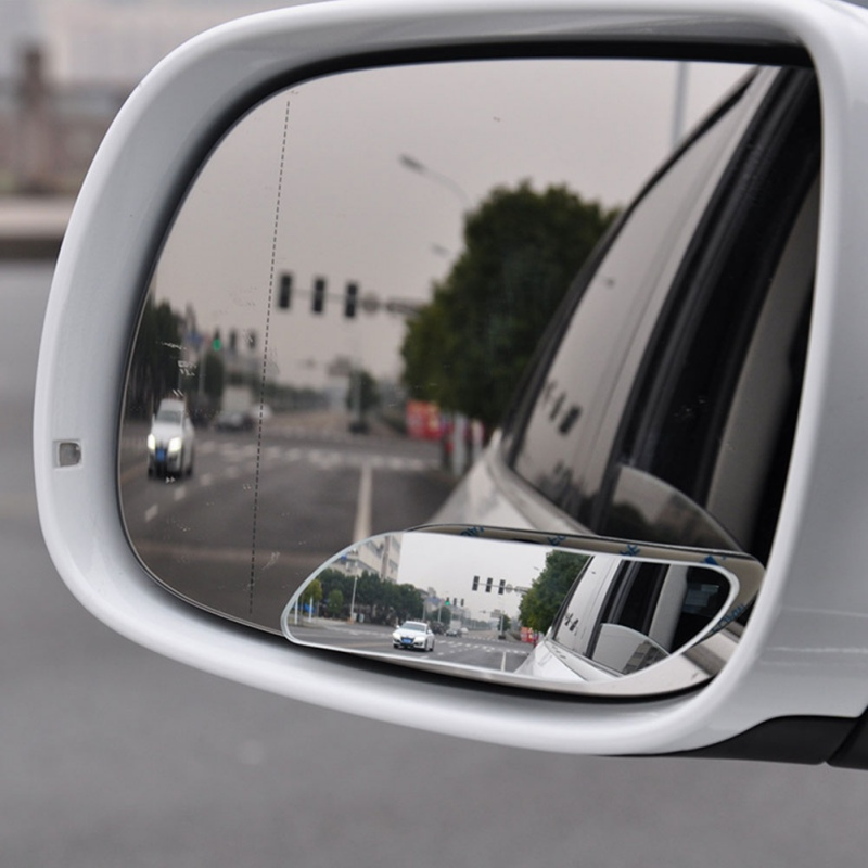 Car Blind Spot Mirror Wide Angle Mirror 360 Degree Adjustable Convex Rear View B