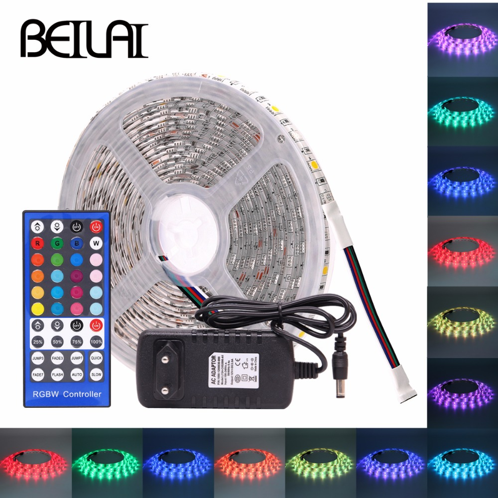 Led Strips Obliging Beilai Smd 5050 Rgb Led Strip Waterproof Dc 12v 5m 300led Rgbw Rgbww Led Light Strips Flexible With 3a Power And Remote Control Lights & Lighting