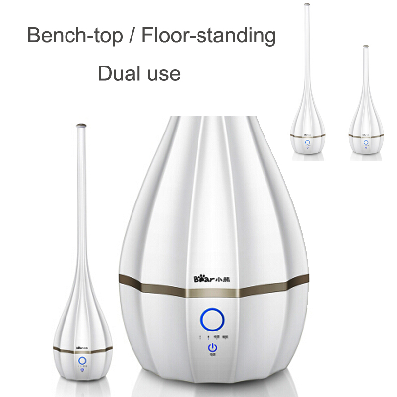 15%JA102 Automatic Humidistat Control Air Humidifier 3L30W FloorStand Touch Screen Mute Air Mist Maker Water Shortage Protection