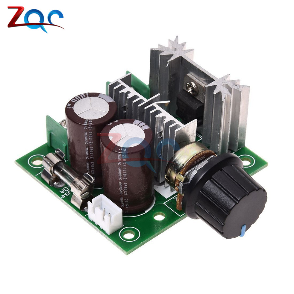 цена на DC 12V 24V 30V 40V 13KHZ Auto PWM DC Motor Speed Regulator Governor Speed Controller Switch 10A 50V 1000uF