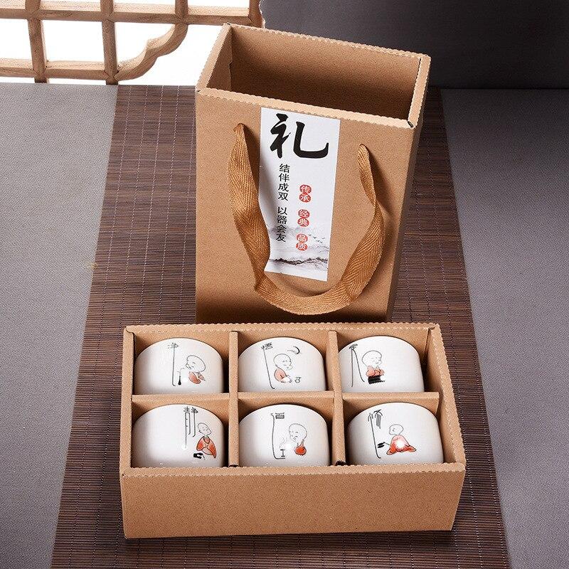 Grande tasse à thé en céramique haute porcelaine blanche Kung Fu ensemble de thé