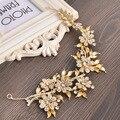 Manual de noiva cocar acessórios para o cabelo jóia da liga diamante coroa de flores com atacado