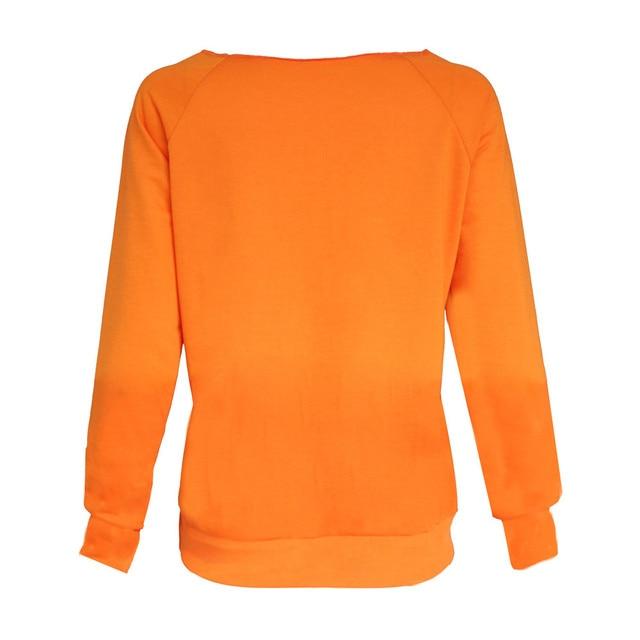 Halloween Pumpkin Print Long Sleeve Sweatshirt Pullover 5