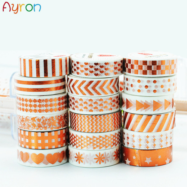 2017 New Christmas And Heart White Foil Diy Adhesive Masking Tape