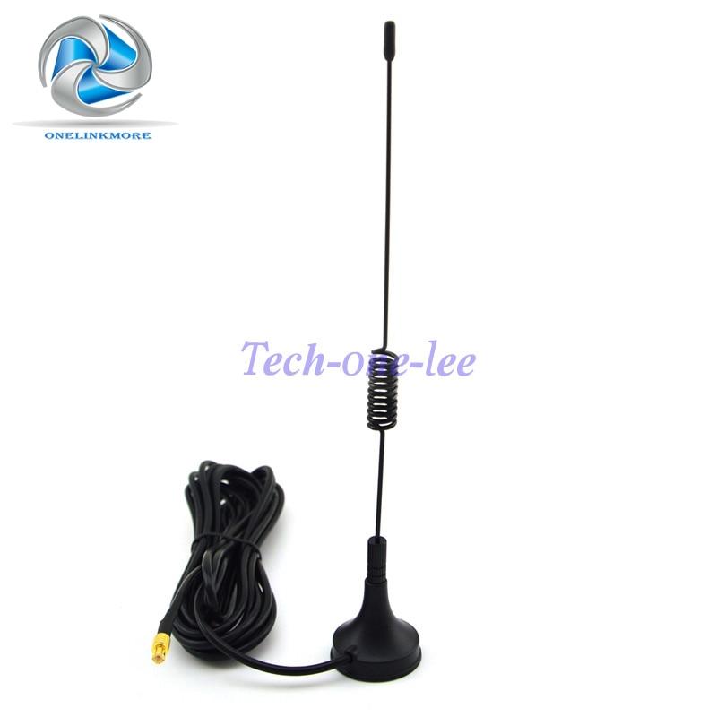 Antena 1090MHz ADS-B / TCAS / SSR 3DBi gana MCX Conector macho Base magnética aérea RG174 Amplificador de señal 3M