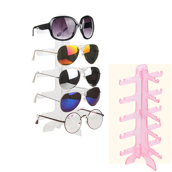 Hot selling Fashion Colors Plastic 5 Pairs Of Glasses Frame  Sunglasses Display Stand Glasses Display Stand